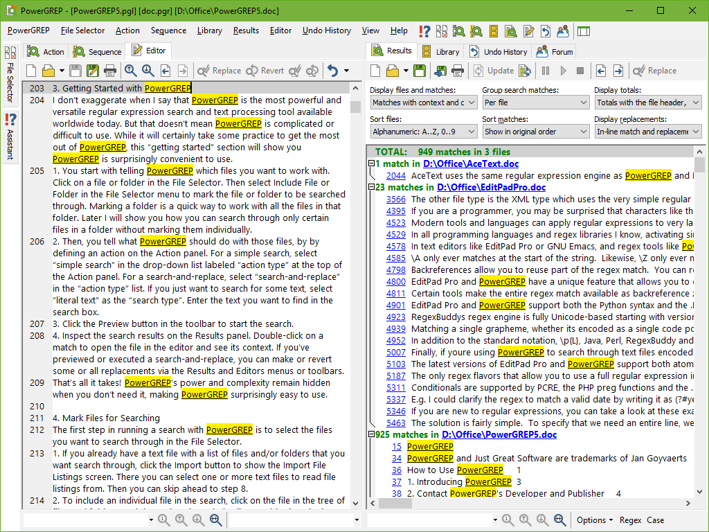 Search Through MS Word Doc to Find Text, Keyword, Phrase or